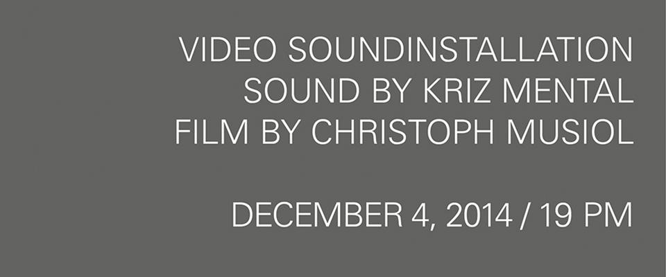 Sounddesign Schleuse01 Werbeagentur Berlin, Void Kriz Mental