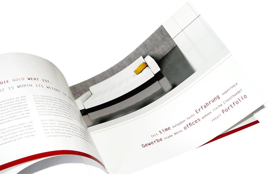 Blick in die Imagemappe Broschüre Tattersall Lorenz Imagemappe Schleuse01 Werbeagentur Berlin