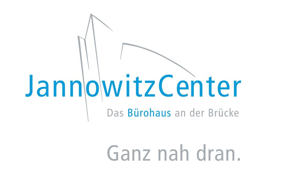 Ansicht Logo Jannowitz Center mit Claim und Subline