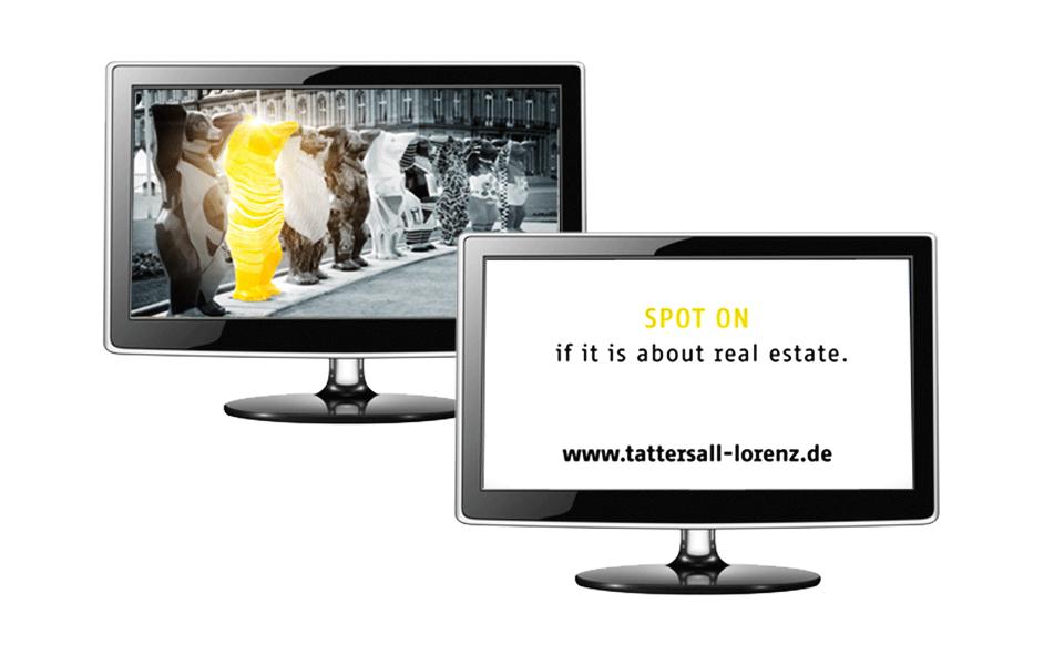 Key-Visual Berlin Bär auf Bildschirm dargestellt