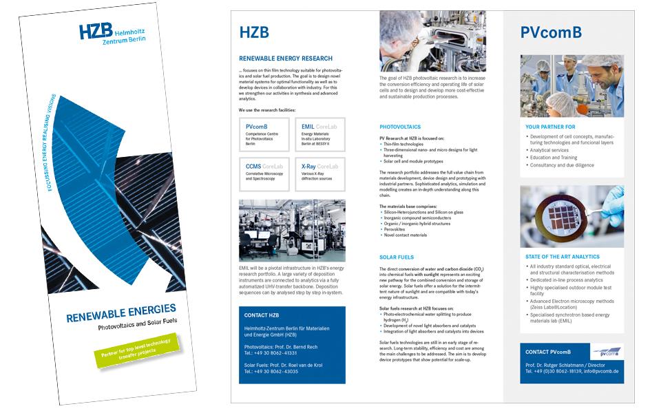 Ansicht Flyer Titel und Inhalt PVcomB