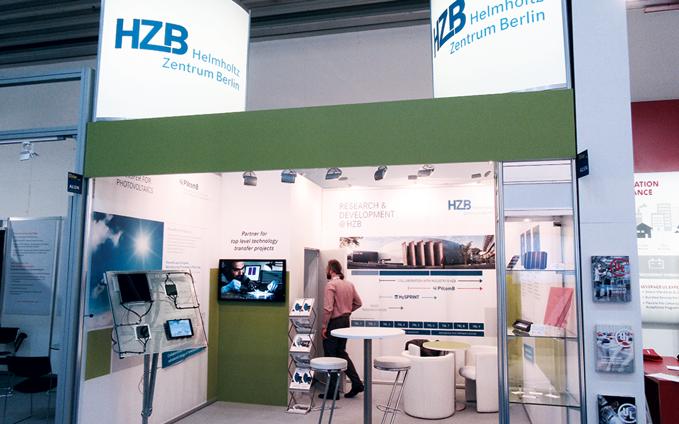 Ansicht HZB-Messestand Intersolar