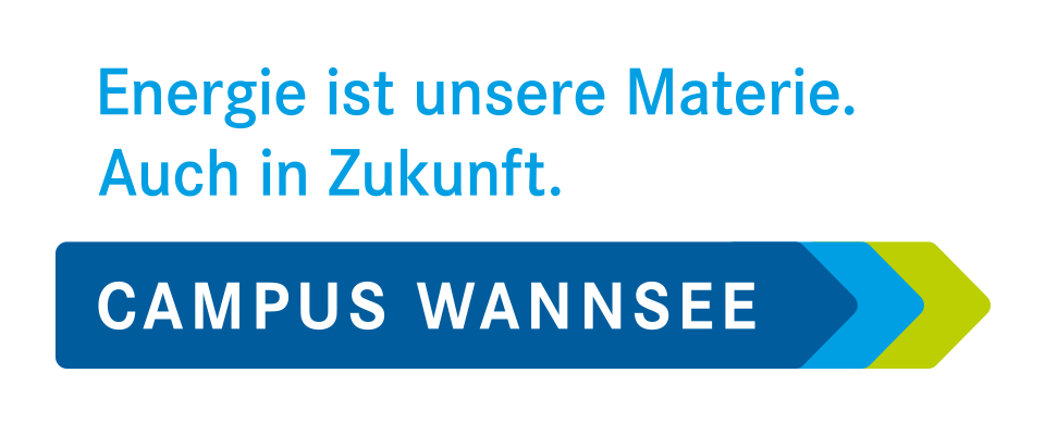 Ansicht der Wort-Bild-Marke des neuen Campus Wannsee des HZB